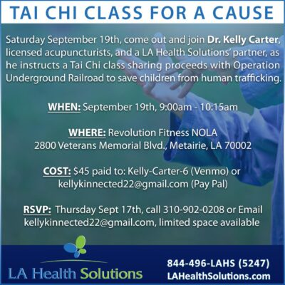 Tai Chi class & La Health Solutions